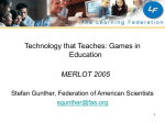 Technology that Teaches - MERLOT International Conference