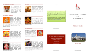 Visitors Guide - Hindu Temple of Wisconsin