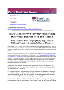 Brain Connectivity Study Reveals Striking Differences Between Men