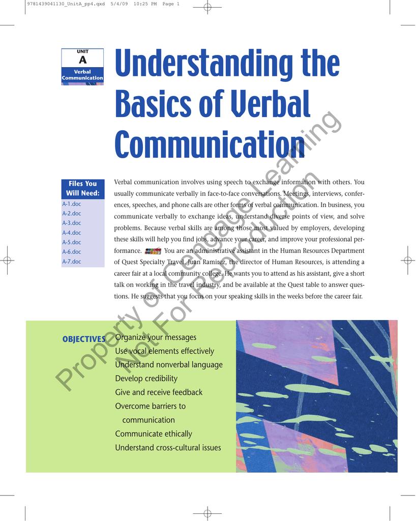 Understanding the Basics of Verbal