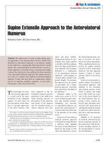 Supine Extensile Approach to the Anterolateral Humerus