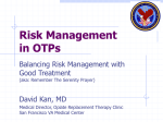 Risk Management in Opioid Treatment Programs