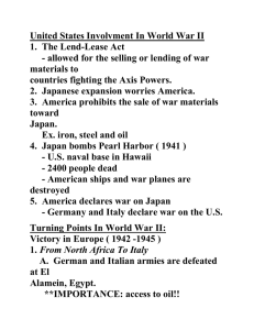 United States Involvement In World War II