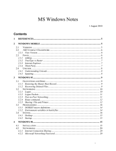 MS Windows Notes