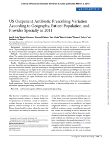 US Outpatient Antibiotic Prescribing Variation According to