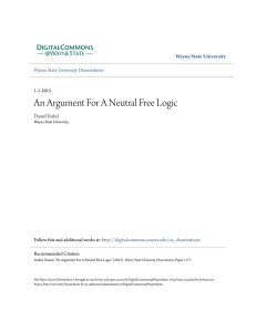 An Argument For A Neutral Free Logic