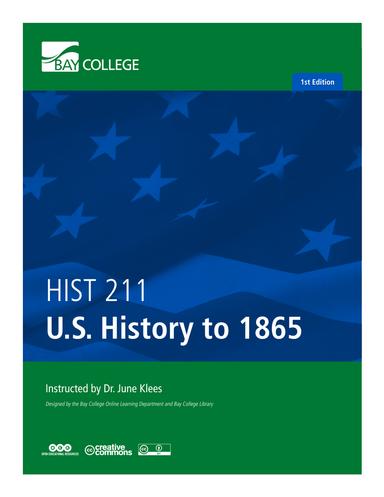 Hist 211 Us History To 1865
