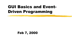 GUI Basics and Event-Driven Programming