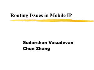 Routing Issues in Mobile IP