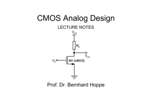 CMOS Analog Design Lecture Notes Rev 1.4L_1_07_09