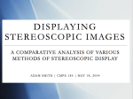 Displaying Stereoscopic Images