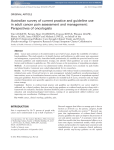 Australian survey of current practice and guideline use in adult