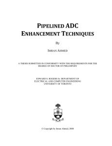 Pipelined ADC Enhancement Techniques