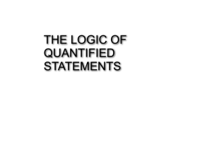 THE LOGIC OF QUANTIFIED STATEMENTS