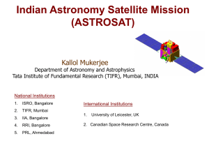 Astrosat (India) - X-ray Astronomy Group at ISAS