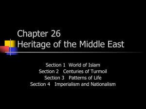 Chapter 26 Heritage of the Middle East - Mount St. Mary