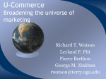 U-commerce : extending the boundaries of business