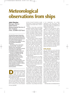 Meteorological observations from ships