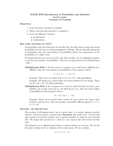 MATH 3070 Introduction to Probability and Statistics