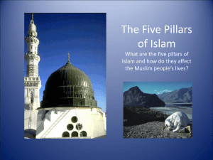 Lesson 2 – PowerPoint The Five Pillars of Islam