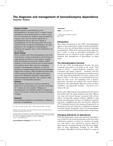 The diagnosis and management of benzodiazepine dependence