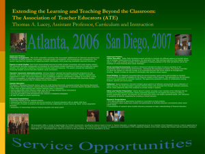 Extending the Learning and Teaching Beyond the Classroom: The