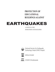 Protection of educational building against earthquakes