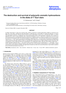 The destruction and survival of polycyclic aromatic hydrocarbons in