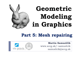 Geometric Modeling in Graphics