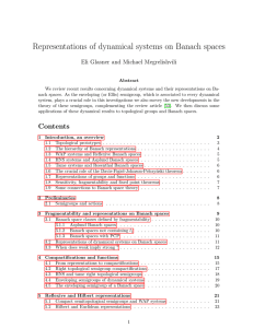 Representations of dynamical systems on Banach spaces