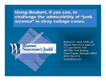 "Using Daubert, if you can, to challenge the admissibility of ""junk"