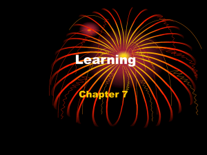 Chapter 7 - Learning
