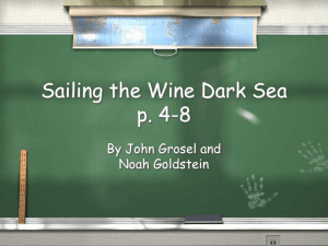 Sailing the Wine Dark Sea p. 4-8