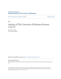 Analysis of The University of Montana Forensic Case 29