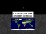 Changes on the earth*s surface