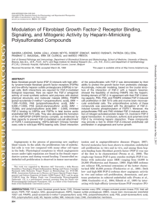 Modulation of Fibroblast Growth Factor
