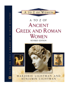 A to Z of Ancient Greek and Roman Women - Imperium