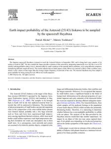 Earth impact probability of the Asteroid (25143)