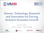 Science, Technology, Research and Innovation for Driving Inclusive