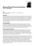 Advanced Placement Environmental Science - Course