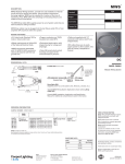 MWS Modular Wiring System DC Drop Cable specification sheet