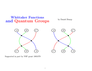 Whittaker Functions and Quantum Groups