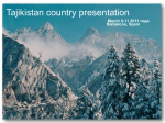 Format for country presentations
