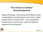 """The Church is Catholic"" group assignment"