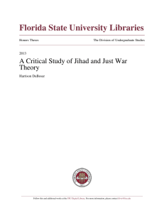 A Critical Study of Jihad and Just War Theory