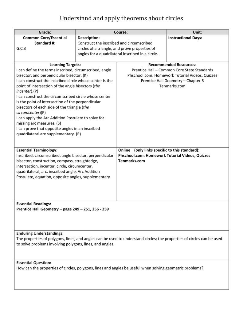 Standards Framework Template