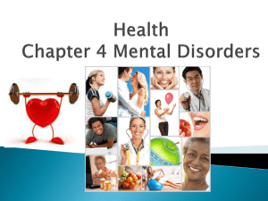 Mental Health Powerpoint lesson 1