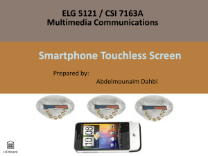 Smartphone Touchless Screen