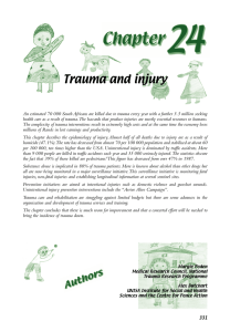 Chapter 24 - Trauma and Injury