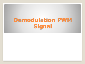 Demodulation PWM Signal